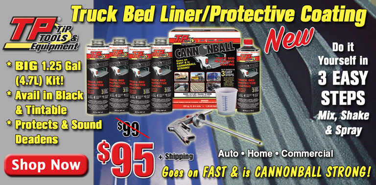 NEW TP Tools Cannonball Bed Liner/Protective Coating!