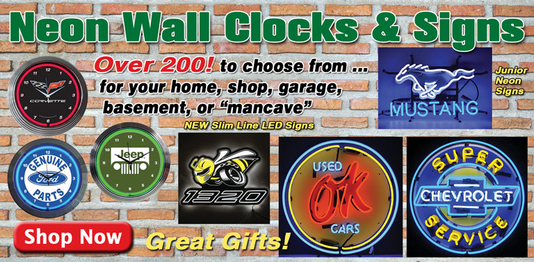 Neon Clocks and Signs - Great Gifts!