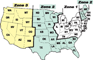 Shipping And Delivery TP Tools Equipment - Us shipping zones map