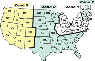 Zone Shipping Map Image