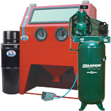 Compressor/Sandblast Cabinet Packages