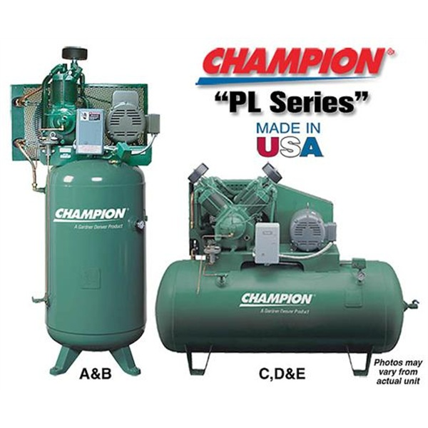 "Champion® ""PL Series"" Pressure Lubricated Compressors"