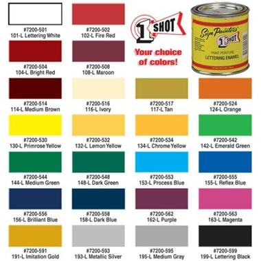 1 Shot® Lettering & Pinstripe Enamel Paint