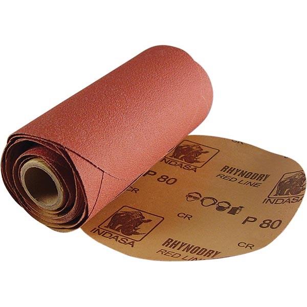 """Indasa 6"""" Dia Adhesive-Back Sandpaper - 25 Link-Roll Pks"""