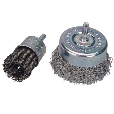 """Heavy-Duty Steel Wire Brushes with 1/4"""" Shank"""