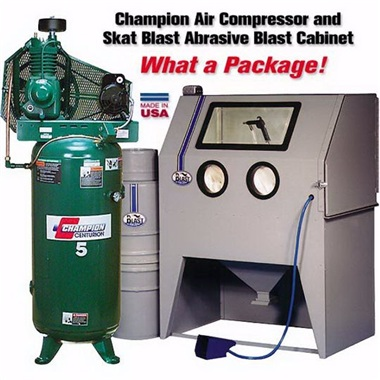 Champion Compressor and Abrasive Cabinet Package Specials