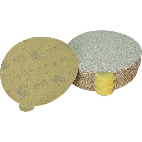 """Indasa 8"""" Diameter Adhesive-Back Sandpaper"""