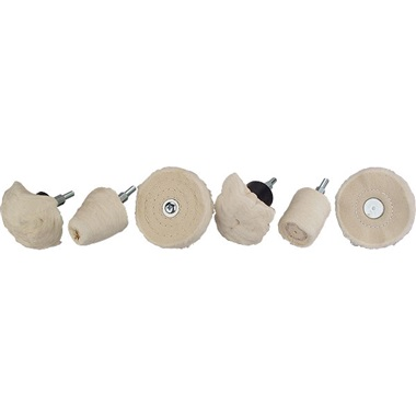 6-Pc Shank-Mounted Buff & Wheel Kit