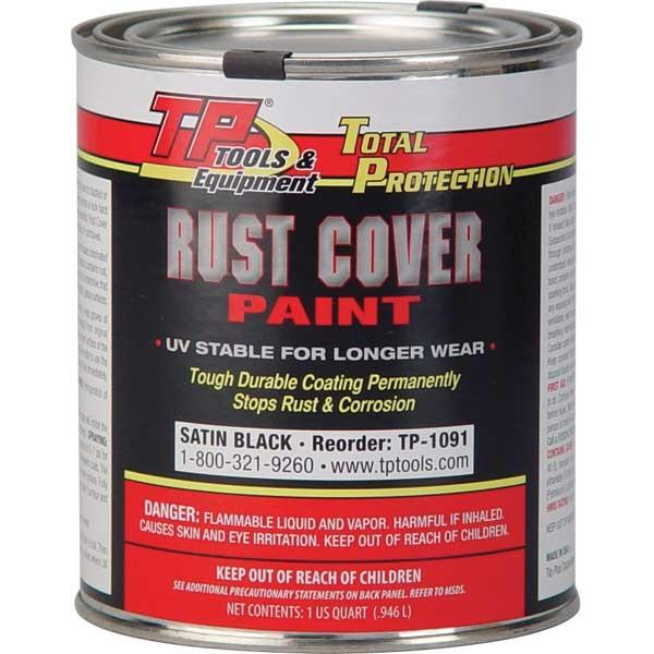 TP Tools® RUST COVER PAINT - Satin Black, Qt