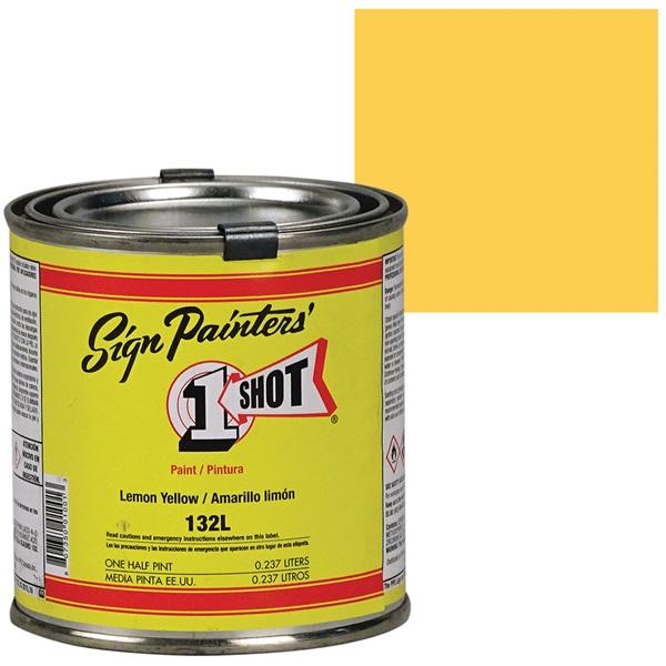 1 Shot® Lettering & Pinstripe Enamel Paint - Lemon Yellow