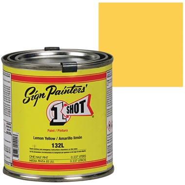 1 Shot® Lettering & Pinstripe Enamel Paint - Lemon Yellow