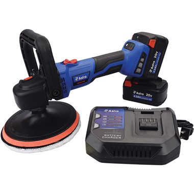 """Astro Pneumatic® 20v 7"""" Variable-Speed Rotary Polisher With 2 Batteries"""