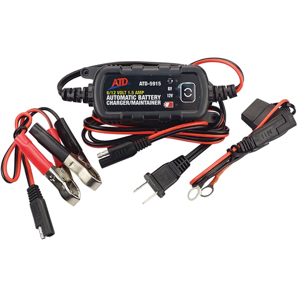 ATD 6/12-Volt 1.5 Amp Battery Charger/Maintainer