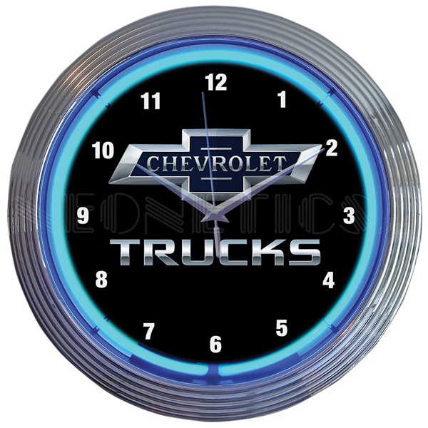 Chevy Trucks Neon Wall Clock