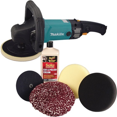 "Makita® 7"" Electric Buffer/Polisher AND Meguiar's® Solo™ Polishing Kit"