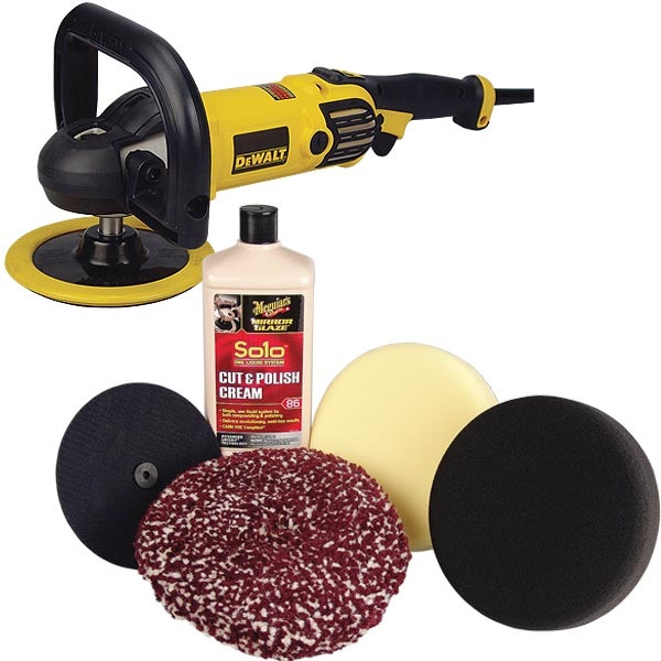 "DeWALT 7"" Variable-Speed Buffer/Polisher AND Meguiar's®  Solo™ Polishing Kit"
