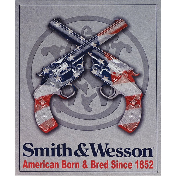 "S&W American Born Tin Sign - 12-1/2""W x 16""H"