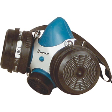Binks Dual-Cartridge Paint Respirator, Medium