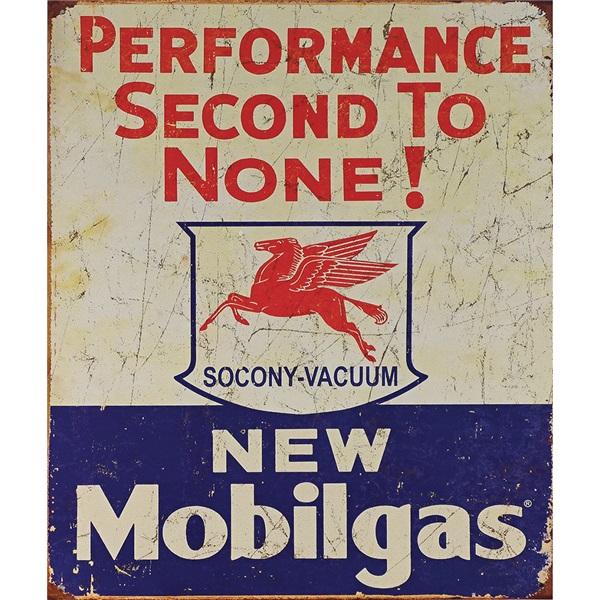 "Mobilgas Tin Sign - 12-1/2""W x 16""H"