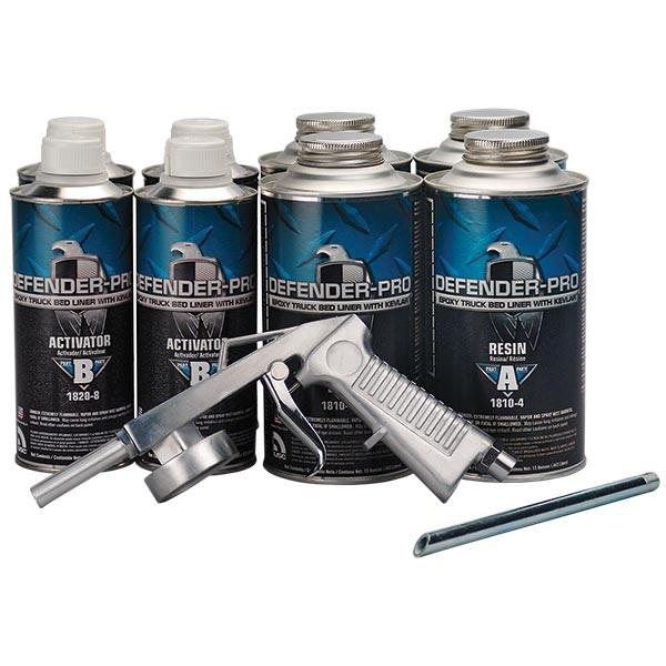 USC® DEFENDER®-PRO Epoxy Truck Bed Liner Kit with Kevlar® - Black