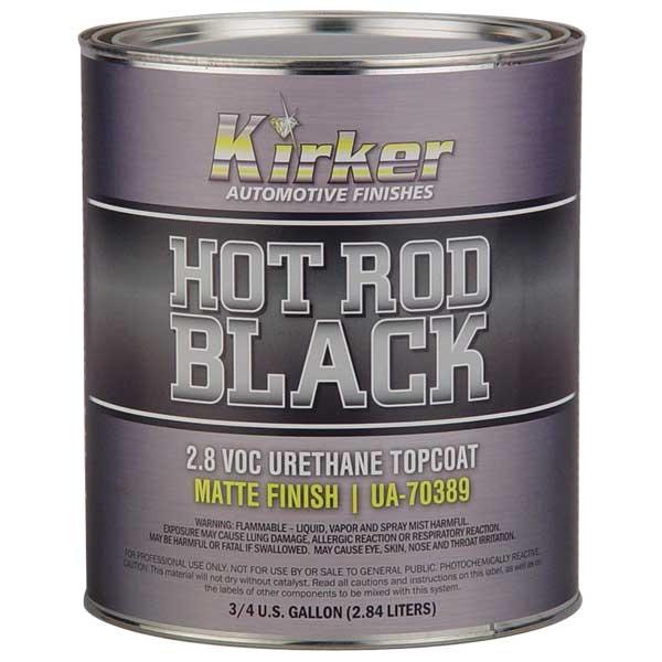 Kirker Hot Rod Black - Urethane Topcoat, Matte Finish