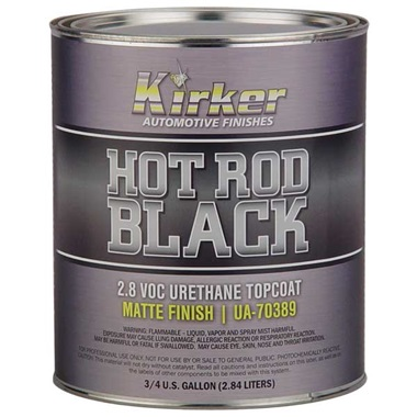 Kirker Hot Rod Black - Urethane Topcoat, Matte Finish