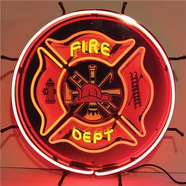 Fire Dept. Neon Sign