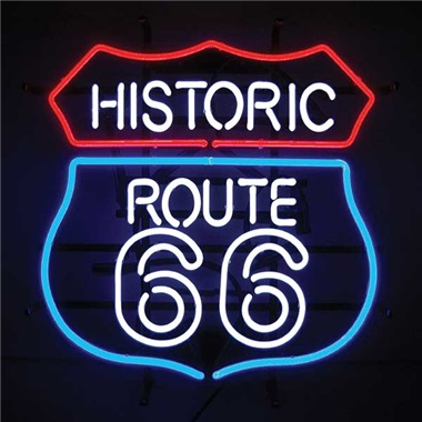 Historic Route 66 Neon Sign