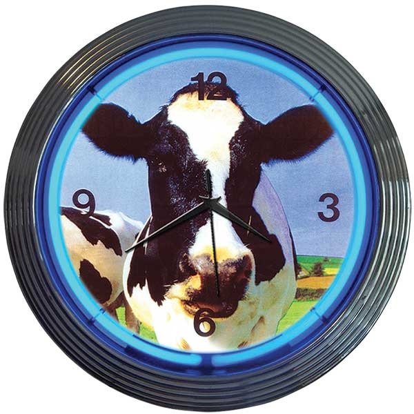 Cow Neon Wall Clock