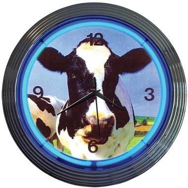 Cow Neon Wall Clock