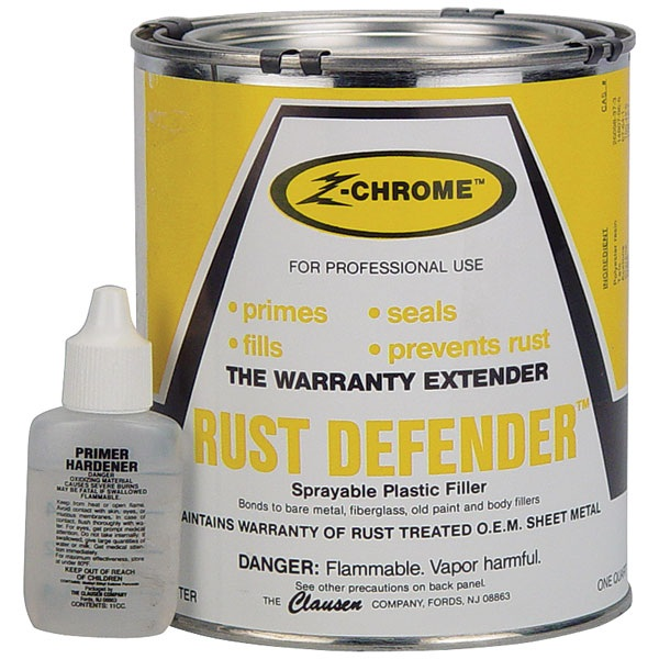 Clausen Z-CHROME™ RUST DEFENDER™ Sprayable Primer-Filler-Sealer, Qt