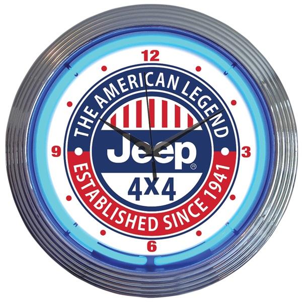 Jeep 4x4 Neon Wall Clock