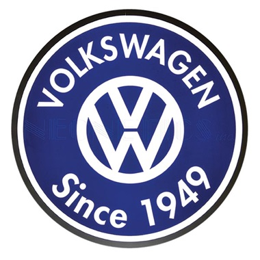 "Volkswagen Since 1949 15"" Dia Backlit LED Sign"