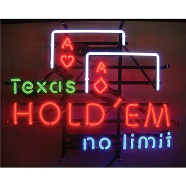Texas Hold' Em Neon Sign
