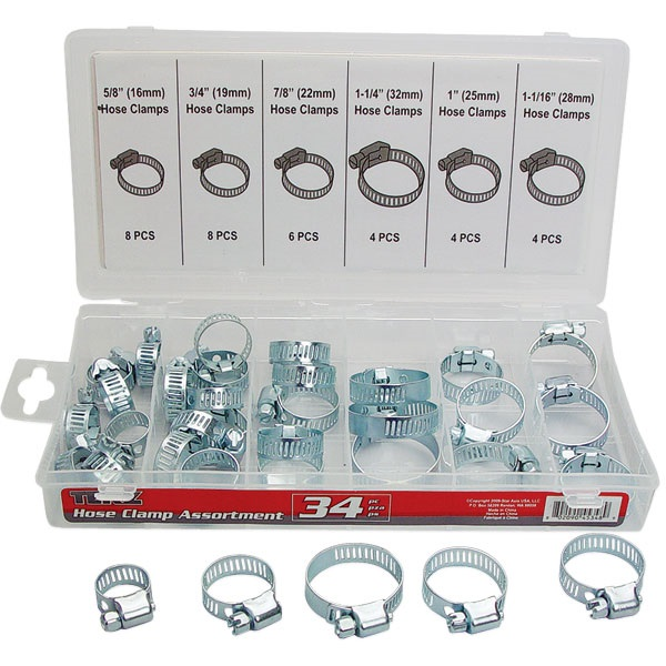 34-Pc Hose Clamp Assortment