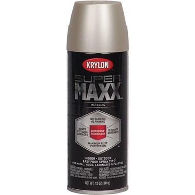 Krylon® Supermaxx® Metallic Paint - Nickel, 12 oz