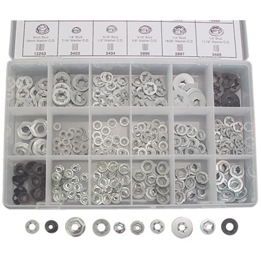 385-Pc Push-On & Thread-Cutting Nuts