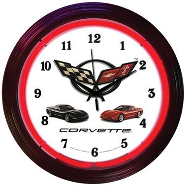 Corvette C5 Neon Wall Clock