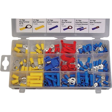160-Pc Wire Terminal Assortment