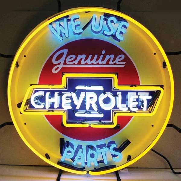 Genuine Chevy Parts Neon Sign