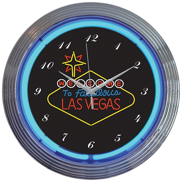 Las Vegas Sign Neon Wall Clock