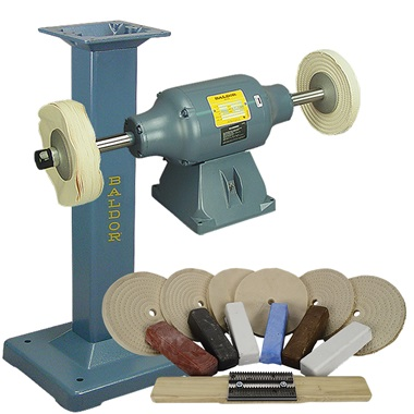 BALDOR® 1-1/2HP Buffer, BALDOR® Cast-Iron Stand & Buffing Kit