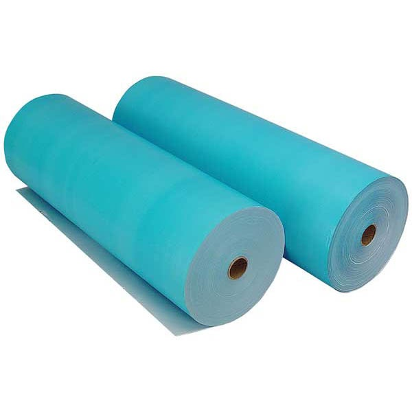 "Blue Polycoat Masking Paper - 18"" wide, 2 rolls"