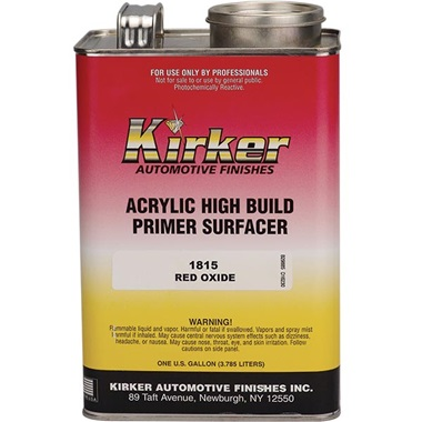 Kirker Acrylic Lacquer High-Build Primer (1K) - Red Oxide, Gal