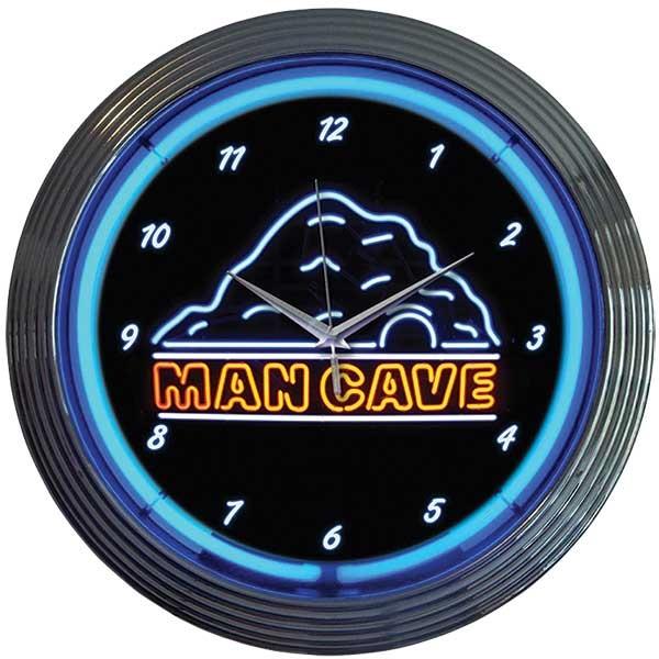 Mancave Neon Wall Clock