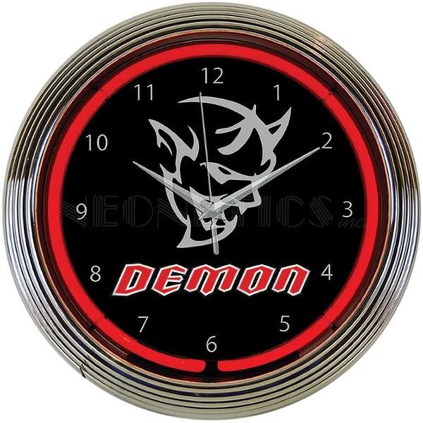 Dodge Demon Neon Wall Clock