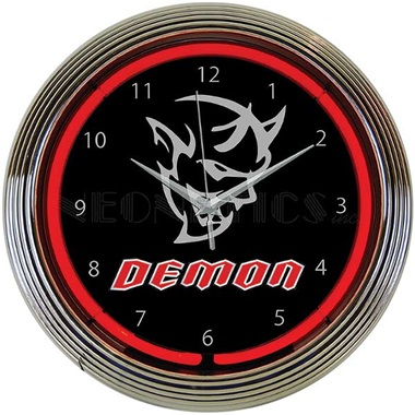 Dodge Demon Neon Wall Clock