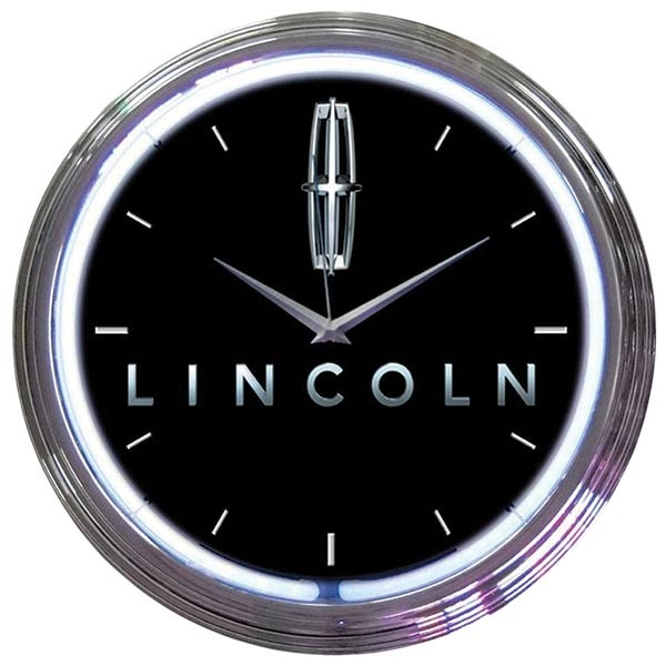 Ford Lincoln Neon Wall Clock
