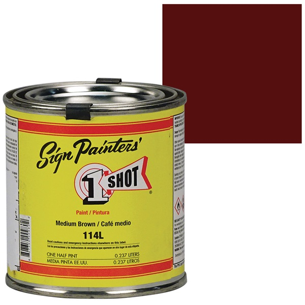 1 Shot® Lettering & Pinstripe Enamel Paint - Medium Brown