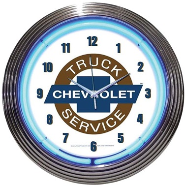 Chevy Truck Neon Wall Clock